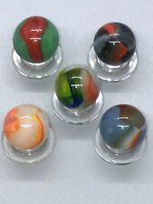 PELTIER GLASS Co. VINTAGE PELTIER MARBLE (5) PELTIER MARBLES