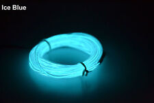Neon Flexible LED Light Strip Glow EL Wire String Rope DC 3V/12V USB Controller
