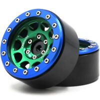 2pcs RC 1.9'' Alloy Beadlock Wheels rims For 1/10 RC 4WD Axial 1.9 Crawler Tires