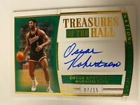 2019-20 Panini Oscar Robertson National Treasures of the Hall auto /15 SP!