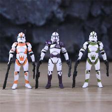 "3pcs/lot  Star Wars Series Clone Trooper Loose 3.75"" Action Figure"