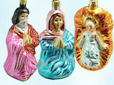 Christorpher Radko Holy Family Trinity Ornament Boxed Set 3 Ltd 1996  Trinity