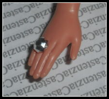 JEWELRY BARBIE DOLL MATTEL SIXTIES FUN FAUX SILVER RING ACCESSORY FOR DIORAMA