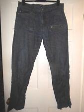 "urban spirit jean W 34"" 32"" L long reg classic fit cotton trousers leg blue zip"