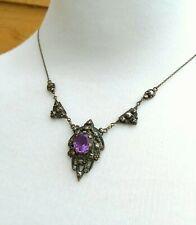 Amethyst Paste Necklace Stunning Antique Art Deco