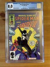 Marvel Team Up #141 CGC 8.0 - Tied 1st Black Spidey costume!