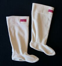 CHOOKA S (5-7) Beige Fleece Rain Boot Liner, Foldover Cuffs in Soft Polyester