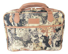 "Tapestry Signare Laptop Bag ""Cats & Kittens""  Computer Briefcase shoulder Strap"