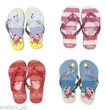 1 Pair Of Girls Peppa Pig Flip Flops, Summer Shoes! Blue, Pink, Orange & Yellow