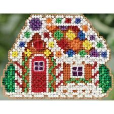 CUTE MILL HILL GINGERBREAD COTTAGE ORNAMENT BEADED CROSS STITCH  KIT