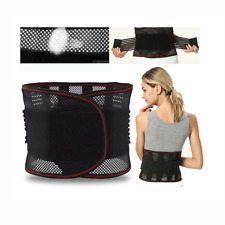 Breathable Double Pull Lumbar Lower Back Support Brace Exercise Belt Waist Back