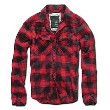 Brandit - Checkshirt red black Herren Hemd black grey Karo rot schwarz