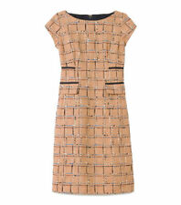 Tory Burch Evie Beige Blue Dress Size UK 8 US 4