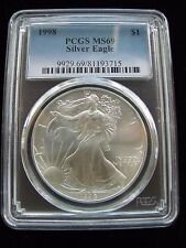 1998 PCGS MS69 Silver AMERICAN EAGLE Walking Liberty - Beautiful
