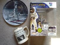1969 Apollo 11 Moon walk, News mug, Plate, Lunar rover toy Neil Armstrong 50yrs