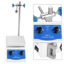 Labor Magnetrührer 12x12cm Heizplatte Rührgerät Rührstab Rührer 180W Heizung MGC