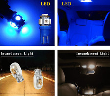 Blue T10 X 2 LED TOP QUALITY BRIGHT BLUE Car Interior Footwell Roof Door Lights