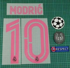 2020/21 REAL MADRID #10 MODRIC 3RD SOCCER NAME SET PRE-ORDER