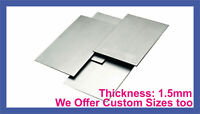 MILD STEEL SHEET METAL SQUARE PLATE 1.5mm 8 SIZES guillotine cut WITH 2 HOLES