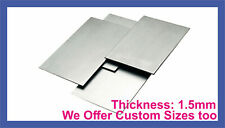 MILD STEEL SHEET METAL SQUARE PLATE 1.5mm THICK CUT 8 SIZES guillotine cut