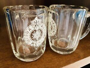 🟢 Coppia BIRRA PERONI ROMA Rari Boccali Bicchieri Vintage Anni 50 Vetro Fuso