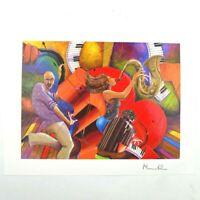 Marcus Glenn Art Print Love That Jazz Signed Seriolithograph w/ COA 9 x 11.5