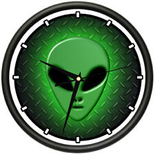 ALIEN Wall Clock area 51 space ship collector outer space planet ufo gag gift