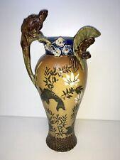 More details for doulton lambeth frog & salamander vase - mark v marshall interest