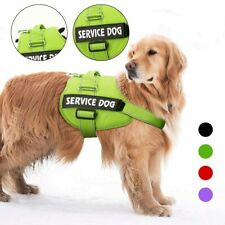 Emotional Support Large Dog Vest Harness Reflective Pet Collar W/ Patches XXL XL