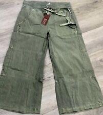 73ee919c20e XCVI Drawstring Apollonia Cropped Pants Sage Green- NWT Size M