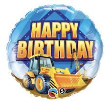 "Happy Birthday Construction 18"" Balloon Birthday Party Decorations"