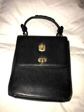 Kieselstein-Cord Black Epi Leather Vintage Purse with Gold Decor
