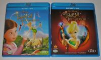 Disney Blu-ray DVD Lot - Tinker Bell Lost Treasure & Great Fairy Rescue (Used)
