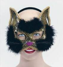 GLITTER CAT MASQUE NOIR SUR H'BAND, MASCARADE MASQUE EYE #FR
