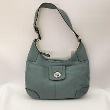 Coach Soho F13956 Handbag Womens Green Pebbled Leather Hobo Shoulder Bag