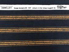 Vintage 'Draycott' Design Blue&Gold Striped Anne&Robert Swaffer Cotton Fabric FQ