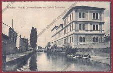 CREMONA SONCINO 07 SCUOLE Cartolina viaggiata 1920