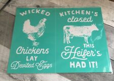 Chalk Couture WICKED CHICKENS Transfer RETIRED NEW Cow Chicken Farm House