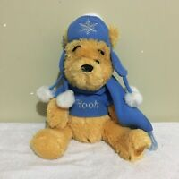 Winnie The Pooh Winter Authentic Disney Store Stuffed Beanbag Plush Toy 12""