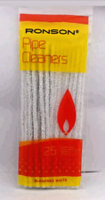 More details for ronson pipe extra long white pipe cleaners naturel cotton bleach white pack 25