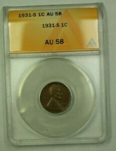 1931-S Lincoln Wheat Cent 1c ANACS AU-58 (WW)
