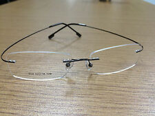 Rimless titanium alloy unisex prescription eyeglass frames! Lightweight/flexible