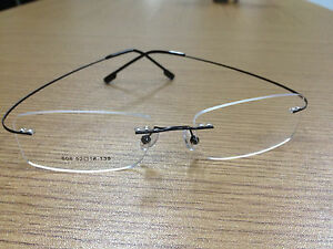 Rimless titanium alloy unisex prescription eyeglass frames! Lightweight/flexible