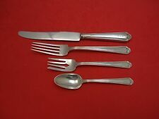 Colonial B Engraved By Whiting Sterling Silver Dinner Size Place Setting s 4pc