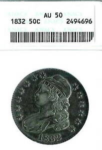 1832 Capped Bust Half Dollar : ANACS AU50