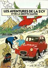 French Tintin Citroen 2CV Advertisement  Poster  A2 Reprint