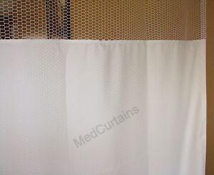 Curtain Natural 68Wx90 HOSPITAL CLINIC LAB Antibacterial Antimicrobial medical