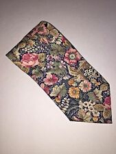 Windsor Necktie Made In The USA Floral Design 100% Cotton Flowers Tie