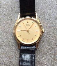 Vintage SEIKO Women's Watch 2C21-0029 R0 Gold Tone Black Lizard Belt
