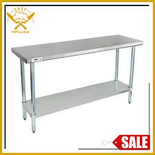 18 X 60 Stainless Steel Work Prep Table Commercial Restaurant Food Undershelf